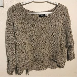 UO CROPPED 3/4 SWEATER
